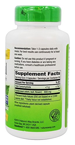 Nature's Way - Goldenseal Herb, 400 mg, 180 capsules
