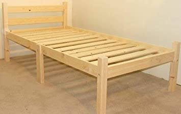 2ft 6 Small Single 75cm Single Bed Wooden Frame Can Be Used By Adults Strong Siderail Support Legs Included