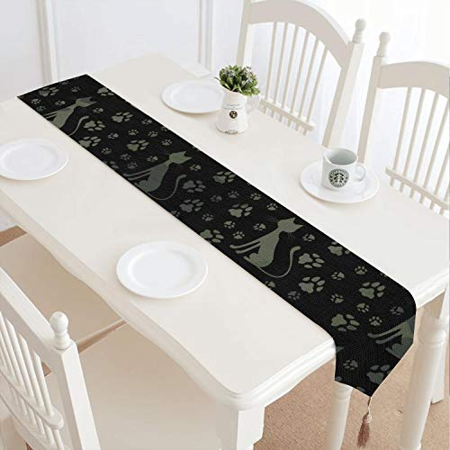 Us Army Fringed - Cat Army and camo Environmentally Friendly Design Fringed Cotton Tablecloth Suitable for Holiday Decoration