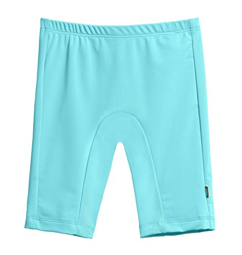 City Threads Little Boys' and Girls' SPF50+ Swim Jammer Swimming Shorts Swim Bottoms Briefs with Sun Protection SPF for Beach Pool or Play, Turquoise, 6