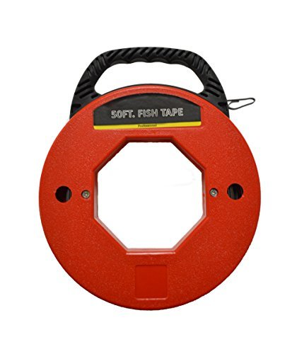 50' Fish Tape Electrical Wire Running Tool by EZ Travel Collection