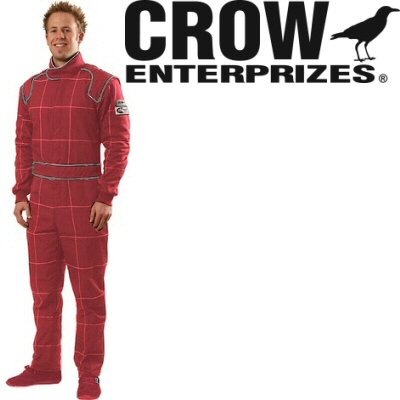 Crow Enterprizes Quilted Multi Layer Nomex Red 1 Piece Driving Suit Size Xl Sfi 5 Approved