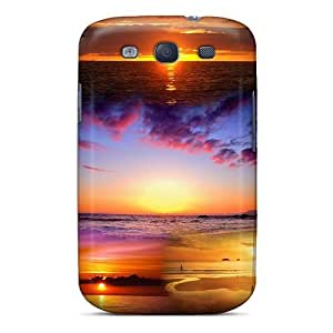 Tpu Case For Galaxy S3 With Collage Of Beach Sunsets