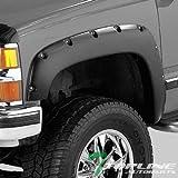1996 chevy mud flaps - Topline Autopart Pocket Rivet Bolt Style Fender Flares (Matte Black) JR For 88-00 Chevy/GMC C10 C/K Truck/Silverado / Suburban/Tahoe / Blazer/Sierra / Jimmy/Yukon