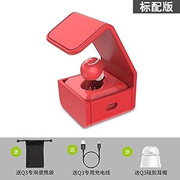 BLUEHUAF Caja de audífonos Auriculares inalámbricos Bluetooth Mini Ultra Pequeño Funcionamiento Invisible Auriculares universales de Montaje