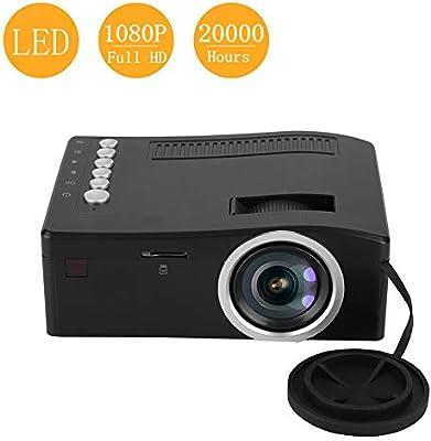 Kafuty Mini 1080P Full HD LED Proyector portátil 15-110in Micro ...
