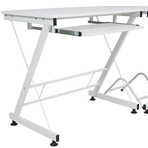 Best Choice Products Wood L-Shape Corner Computer Desk PC Laptop Table Workstation Home Office White by Best Choice Products (Image #4)