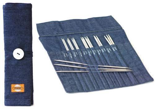 addi FlexiRoll - Denim, Flexiflip Needle Case Skacel DellaQ