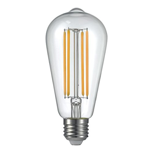 - ALK E26 E27 4W ST64 Screw Squirrel Cage Classic Decorative Dimmable LED Filament Bulb LED Vintage Edison Lighting Source for 40W Equivalent Incandescent Lights Replacement(ST64 4W=40Watts-Single)