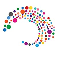 PARLAIM Rainbow Multi Size Kids Wall Stickers, Peel and Stick Dot Decals Polka Dot Wall Decals for Kids Room, Living Room, Bedroom, Classroom Decorations Multicolor (4-1 inch X 130 Circles)