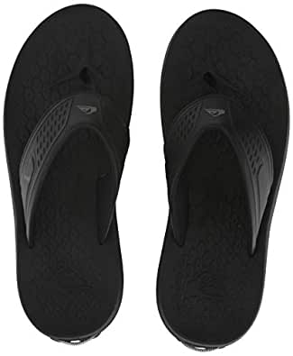 Quiksilver Mens AQYL100694 Layover Travel Sandal Black Size: 6