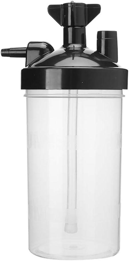 Diydeg Oxygen Generator Humidifier Bottles, Replacment Practical Reusable Oxygen Concentrator Humidifier, Plastic Durable Home for Oxygen Generators