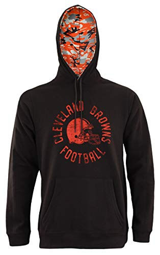 Zubaz NFL Men's Team Camo Lined Pullover Hoodie, Cleveland Browns X-Large ()