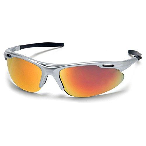 eg Safety Glasses with Orange Mirror Lens, Gray Frame ()