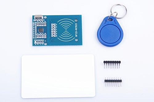 KNACRO RFID RC522 MFRC522 RF module IC card module With S50 Key Card + S50 proximity (Proximity Card Reader Module)