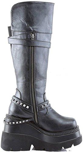 Demonia Shaker-101 Womens Boot Blk Vegan Leather