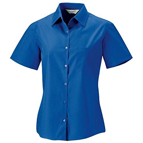 manches Femme Aztque popeline Collection Bleu Chemisier coton Russell courtes 100 en a78vqwwxY