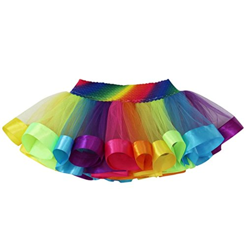 DORIC Baby&Toddler Clothes Doric Kids Girls Tutu Tulle Party Dance Ballet Rainbow Costume (Funky Dance Costumes Uk)