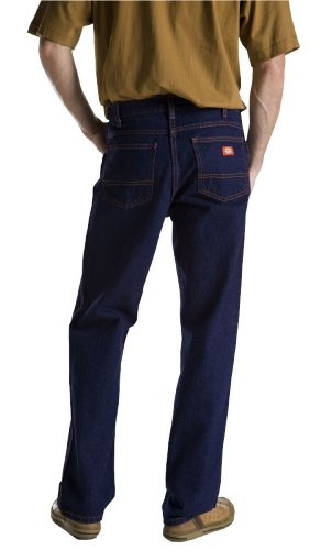 Dickies Men's Regular Fit 5-Pocket Jean,Indigo Blue Rigid,42x32