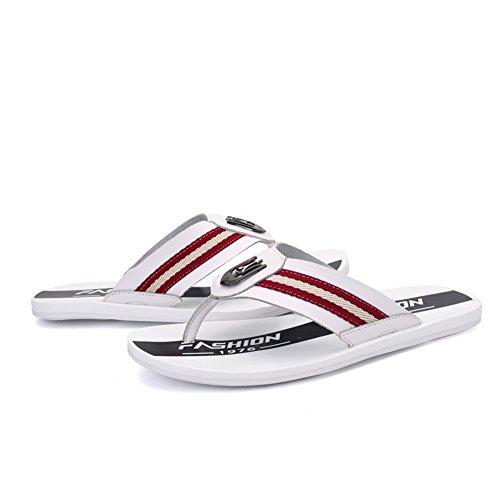 Calzature Sandali e Pantofole da Massaggi Infradito B Pelle da Uomo Bianco Morbidi in Marrone Estivo da Inferiori Spiaggia Uomo Nero Blu rrn8qOCw