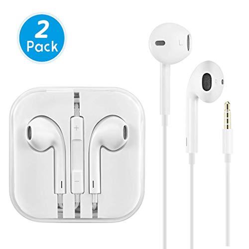 Earbuds/Earphones/Headphones, Premium in-Ear Wired Earphones with Remote & Mic Compatible Apple iPhone 6s/plus/6/5s/se/5c/iPad/Samsung/MP3 MP4 MP5