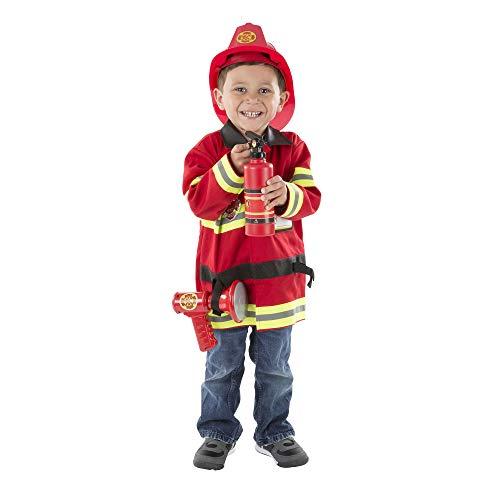 Melissa & Doug Fire Chief Role Play Costume Dress-Up Set (6 pcs)