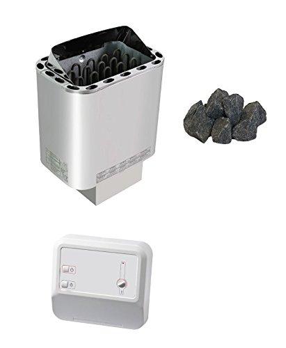 Sawo Nordex Saunaofen Sentiotec 4,5 KW mit Saunasteine und Saunasteuerung A1