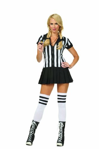 [RG Costumes Women's Rowdy Referee, Black/White, 8-10/Large] (Cute Costumes For Couples)