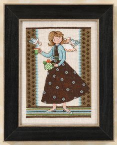 Girl Debbie Mumm (Angel Girls - Tea For Two - Mill Hill Counted Cross Stitch Kit)