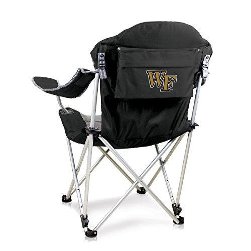 NCAA Wake Forest University Digital Print Reclining Camp Chair, Black, One Size