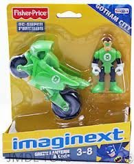 Fisher Price - Imaginext - Exclusive DC Super Friends - Green Lantern & Cycle - 31401 by
