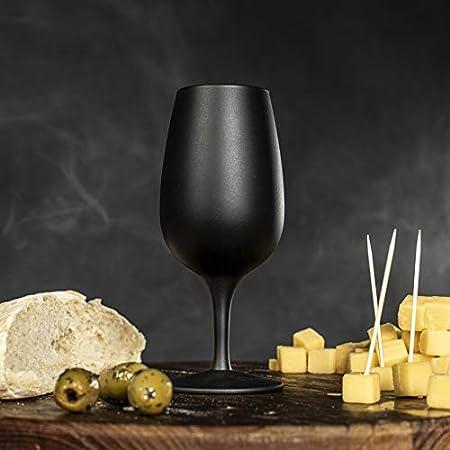 Copa de vino, color negro mate Tasting