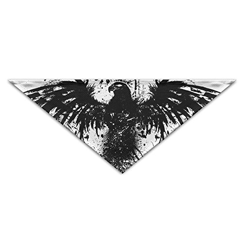 MuaePzdl Black Eagle America Flag Turban Triangle Scarf Bib Scarf Accessories Pet Cat And Baby Puppy Saliva Dog Towel ()