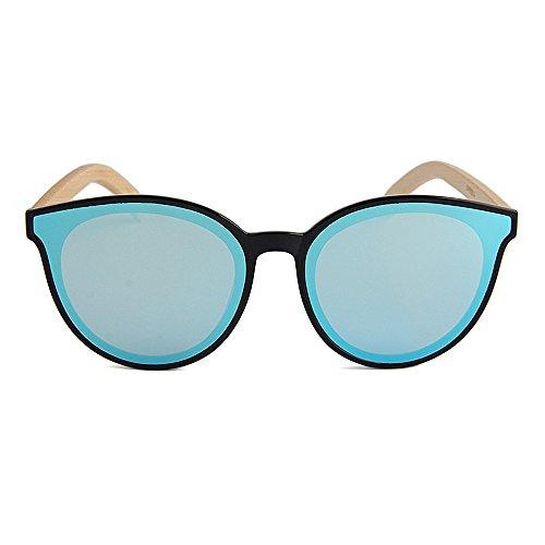 Simple de Hombres para Gafas De Mano Hecho de Adecuado al UV a Color Leg Gububi Diario y Uso Protección múltiples Style Bamboo Mujeres Fines Lente Aire Azul Eyes para Cat Verde Color Unisex Sol Libre q6UtRB1v