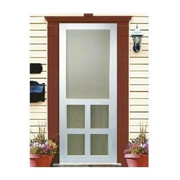 kimberly bay 30 in x 80 in victoria white vinyl screen door wooden screen doors. Black Bedroom Furniture Sets. Home Design Ideas