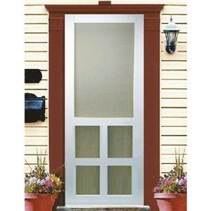 Screen Door Victorian (Kimberly Bay 30 in. x 80 in. Victoria White Vinyl Screen Door)