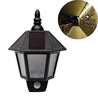 Retro Solar Lampe LED Wand sechseckig Wasserdicht IP44 mit ...