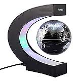 C shape Decoration Magnetic Levitation Floating Globe World Map LED Light