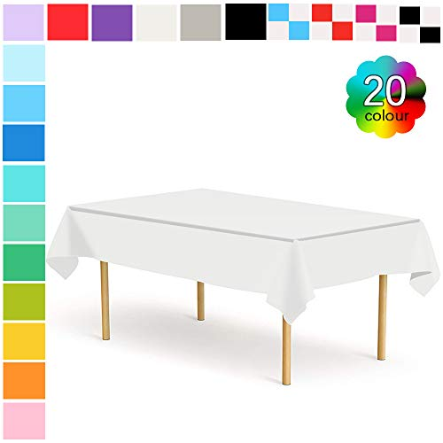 54x108 Rectangle Plastic Table Covers - 5