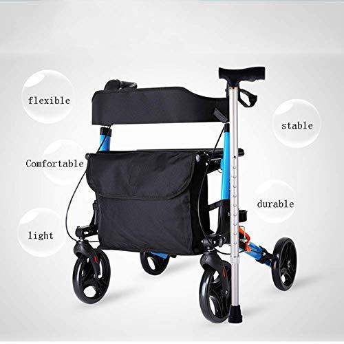 CHZBY- Andador de Andador Plegable con Canasta de Compras ...
