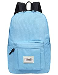 Zeraca Fashion Canvas Laptop Backpack Bookbags for Middle High School College