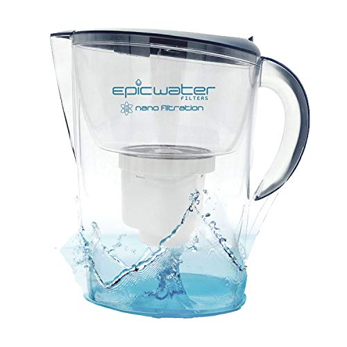 Epic Nano Water Filter Pitcher | Navy | 3.5L | BPA-Free | Nanofiltration Removes Fluoride, Bacteria, Virus, Giardia, Cryptosporidium, E-Coli, Lead, Chromium 6, PFOS, PFOA, Heavy Metals, Pesticides (Best Water Filter For Lead Removal)