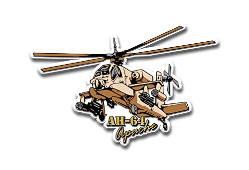 AH-64 Helicopter DESERT Military Magnet