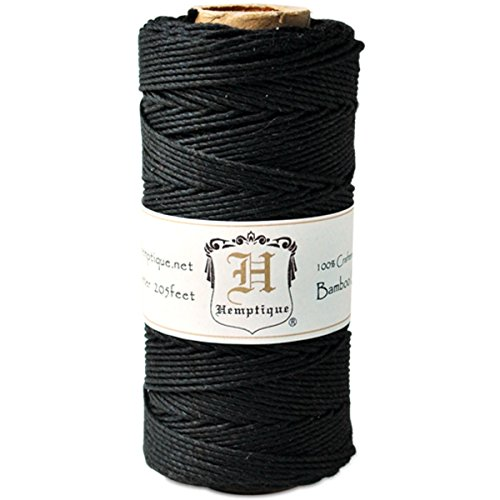 - Hemptique Bamboo Cord Spool 20lb 205'-Black