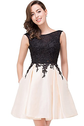 Open Back Short (Babyonlinedress black lace open back sexy ball cocktail party dress)