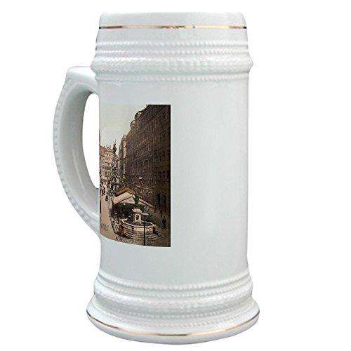 CafePress - Vintage Vienna - Beer Stein, 22 oz. Ceramic Beer Mug with Gold (Old Vienna Beer)