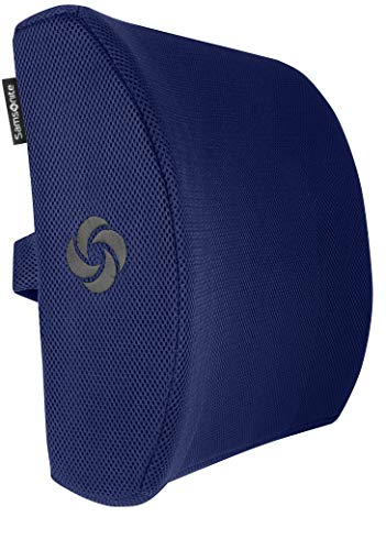 Samsonite SA5294 Lumbar Support/Navy Ergonomic Pillow-Helps Relieve Lower Back Pain-100% Pure Memory Foam-Improves Posture-Fits Most Seats-Breathable Mesh-Washable Cover-Adjustable Strap by Samsonite (Image #1)