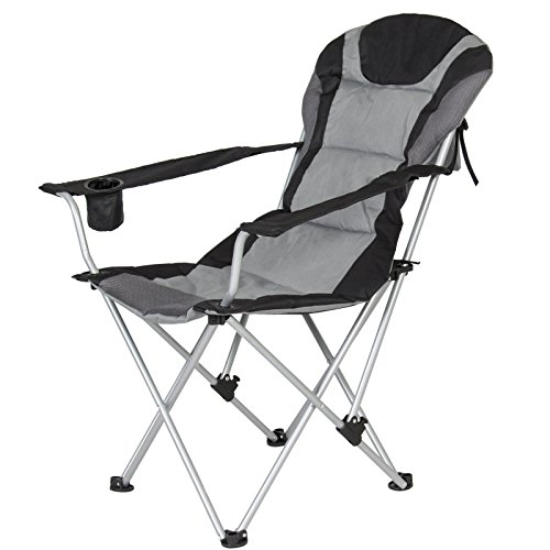 Modern Deluxe Padded Reclining Camping Fishing Beach Chair With Portable Carrying Case It Is Ideal For Use On Camping - Hut Fl The Fort Myers