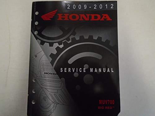 2009 2010 2011 2012 HONDA MUV700 BIG RED Service Shop Repair Manual OEM Book *** - Oem Shop Repair Manual