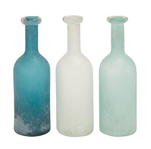 Deco 79 Glass Vase, 3 Assorted, 5 by 15""